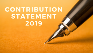 Contribution Statement 2019