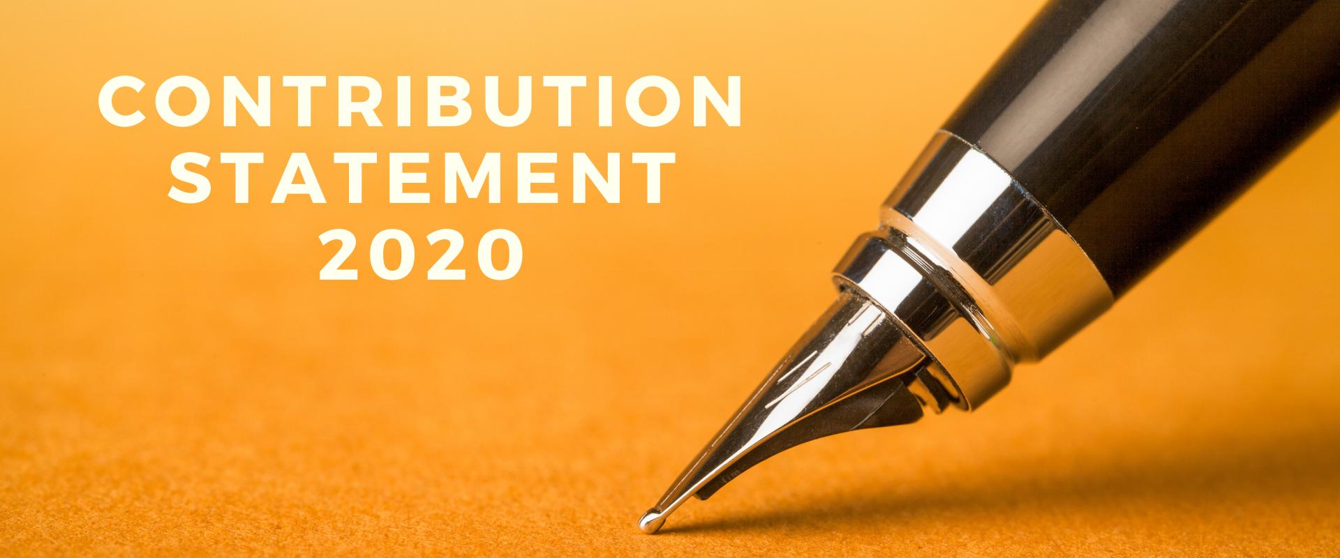 Contribution Statement 2020